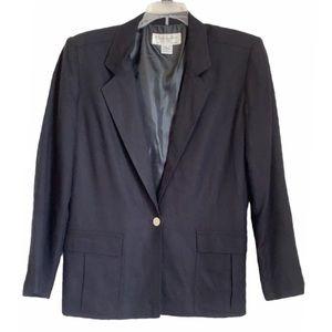 Christian Dior Black Rayon 1 Button Blazer